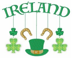 Ireland Mobile embroidery design