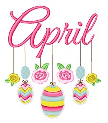 April Mobile embroidery design