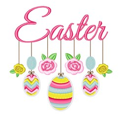 Easter Mobile embroidery design