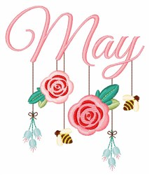May Mobile embroidery design