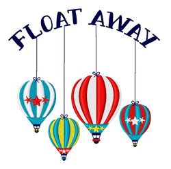 Float Away embroidery design