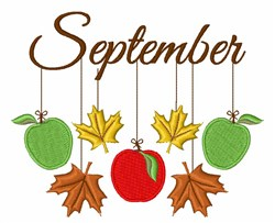 September Mobile embroidery design