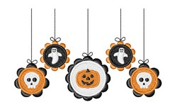 Halloween Mobile embroidery design