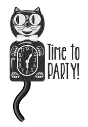 Time To Party embroidery design