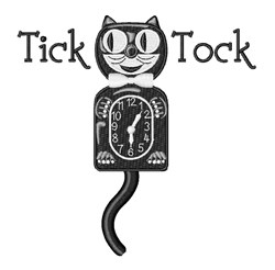 Tick Tock embroidery design