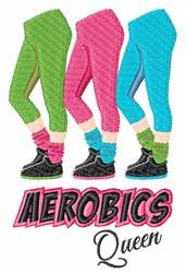 Aerobics Queen embroidery design
