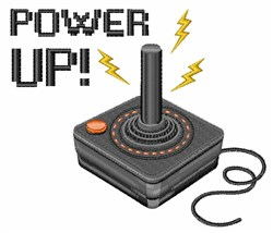 Power Up embroidery design