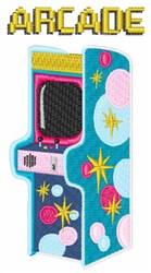 Arcade Games embroidery design