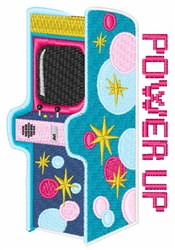 Arcade Power Up embroidery design
