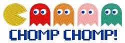 Pac Man Chomp embroidery design