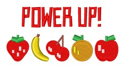Power Up Fruit embroidery design