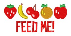 Feed Me Fruit embroidery design