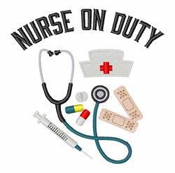 Nurse On Duty embroidery design