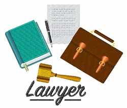 Lawyer Profession embroidery design