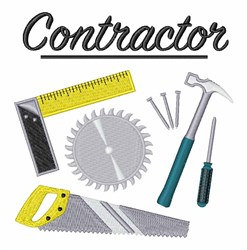 Contractor embroidery design