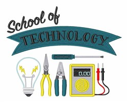 School Of Technology embroidery design
