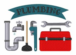 Plumbing embroidery design