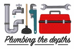 Plumbing The Depths embroidery design