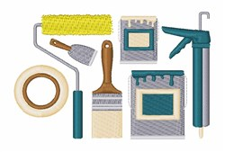 Painting Equipment embroidery design