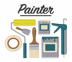 Painter embroidery design