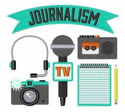 Journalism embroidery design