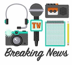 Breaking News embroidery design