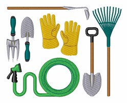 Landscaping  Tools embroidery design