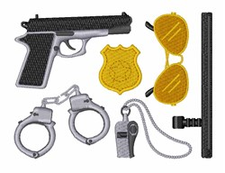 Police Equipment embroidery design