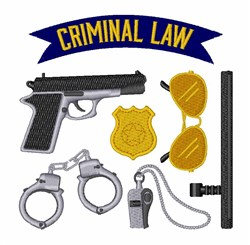 Criminal Law embroidery design