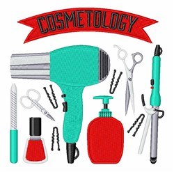 Cosmetology embroidery design