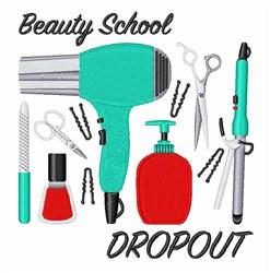 Beauty School embroidery design