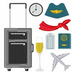 Flight Attendant embroidery design