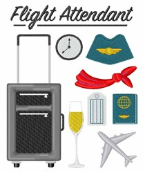 Flight Attendant Items embroidery design