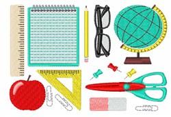 Teacher Supplies embroidery design