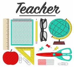 School Teacher embroidery design