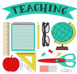 Teaching Supplies embroidery design