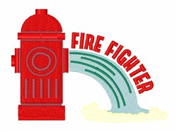 Fire Fighter Hydrant embroidery design