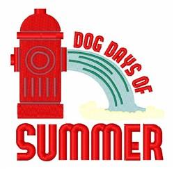 Dog Days Summer embroidery design