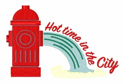 Hot City embroidery design