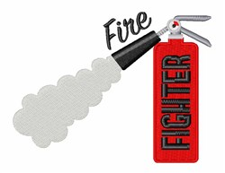 Fire Fighter Extinguisher embroidery design