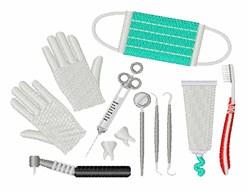 Dentist Equipment embroidery design