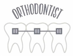 Orthodontist embroidery design