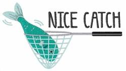 Nice Catch embroidery design