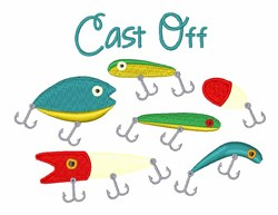 Cast Off embroidery design