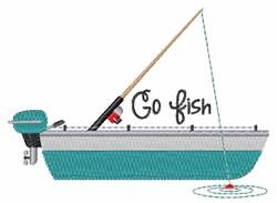 Go Fish embroidery design