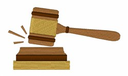 Judge Gavel embroidery design