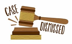 Case Dismissed embroidery design