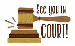 In Court embroidery design