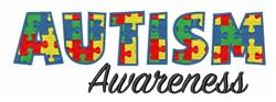 Autism Awareness embroidery design