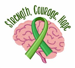 Strength Courage Hope embroidery design